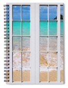 Tropical Paradise Beach Day Windows Spiral Notebook