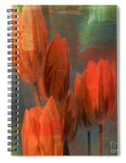 Tulips With Green Background Spiral Notebook