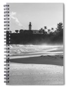 Tuna Punta Lighthouse Black And White Spiral Notebook