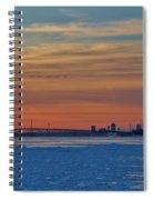 Tundra Swan Niagara Sunset Spiral Notebook