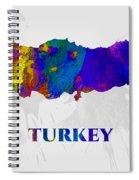 Turkey, Map, Artist Singh Spiral Notebook
