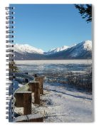 Turnagain Arm And Chugach Range From Sunrise Alaska Spiral Notebook