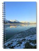 Turnagain Arm In Winter Alaska Spiral Notebook