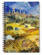 Tuscan Landscape - San Gimignano Spiral Notebook