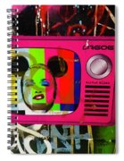 Tv Madonna On Air On Barcelona Walls  Spiral Notebook