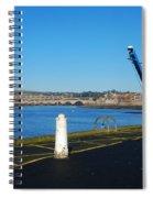 Tweed Estuary To Berwick-upon-tweed Medieval City Walls,bridges  Spiral Notebook