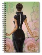 Twenty Pearls N Pink Roses Spiral Notebook