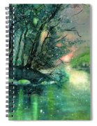 Twilight At The River Rhine Spiral Notebook