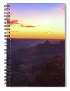Twilight In The Canyon Spiral Notebook