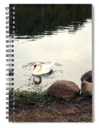 Twilight Swan Spiral Notebook