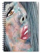 Twilight - Woman Abstract Art Spiral Notebook