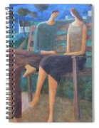 Two Boats In The Night Spiral Notebook