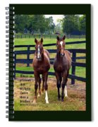 Two Friends With Proverbs 18 Vs 24 Spiral Notebook
