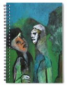 Two Men In A Field Spiral Notebook