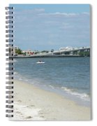 Two Men Set Out On Jet Skis From A Sanibel Island Causeway Islan Spiral Notebook