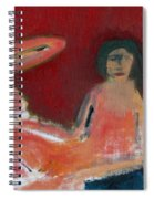 Two Nudes By A Lamp Spiral Notebook