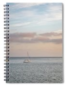 Two Sail Boats In Ocean Sea Facing The Sunset During The Golden  Spiral Notebook