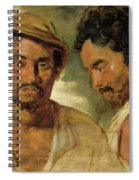 Two Studies Of A Man, Head And Shoulders Spiral Notebook