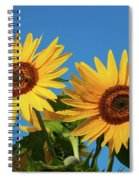 Two Sunflowers Spiral Notebook