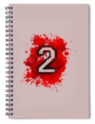 Twoo Over Red Stain Spiral Notebook