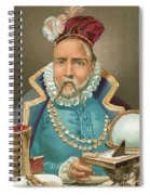 Tycho Brahe Illustration Spiral Notebook