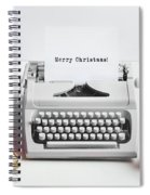 Typewriter With Merry Christmas Text And Gifts Spiral Notebook