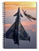 Typhoon And Spitfire Synchro-pair Display Team Spiral Notebook