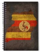 Uganda Country Flag Map Spiral Notebook