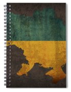 Ukraine Country Flag Map Spiral Notebook