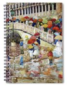 Umbrellas In The Rain - Digital Remastered Edition Spiral Notebook