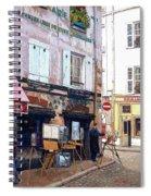 Un Artiste A La Place Du Tertre Paris. Spiral Notebook