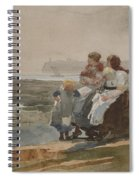 Under The Cliff, Cullercoats , 1881 Spiral Notebook