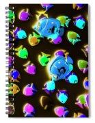 Underwater Glow Spiral Notebook