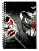 Unmasking Passions Spiral Notebook