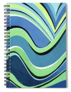Untitled  Abstract Blue And Green Spiral Notebook
