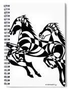 Untitled  Three Horses Spiral Notebook