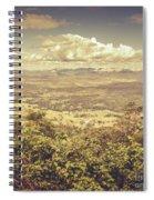Up Above The Land Down Under Spiral Notebook