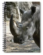 Up Close Look At The Face Of A Rhinoceros Spiral Notebook