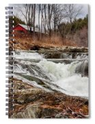 Upper Cox Brook Fall Covered Bridge Spiral Notebook