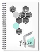 Urban Design Boston Cityscapes Spiral Notebook