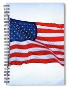 U.s. Flag 5 Spiral Notebook