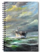 Uss Enterprise Returns To Pearl Spiral Notebook
