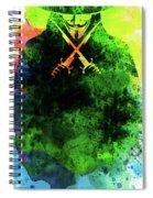 V For Vendetta Watercolor II Spiral Notebook
