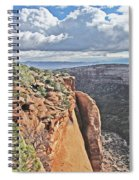 Valley Colorado National Monument Sky Clouds 2892 Spiral Notebook