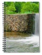 Valley Creek Waterfall Panorama Spiral Notebook