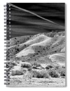 Valley Of Fire Black White Nevada  Spiral Notebook