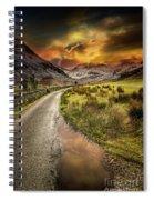Valley Sunset Snowdonia Spiral Notebook