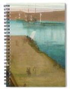 Valparaiso Harbor - Digital Remastered Edition Spiral Notebook
