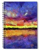 Van Gogh Sunset Reflection Spiral Notebook