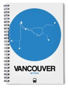 Vancouver Blue Subway Map Spiral Notebook